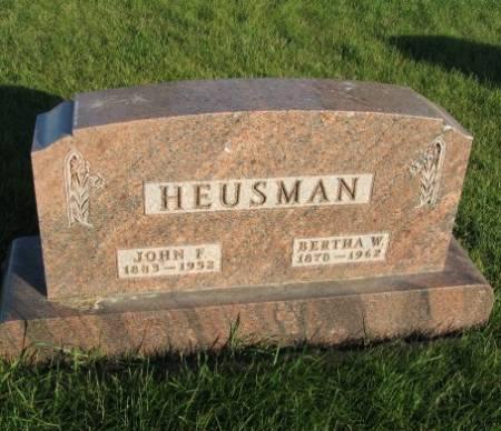 HEUSMAN, BERTHA W. - Mitchell County, Iowa | BERTHA W. HEUSMAN