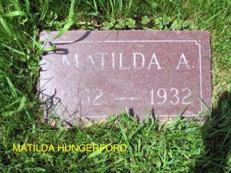 HUNGERFORD, MATILDA A. - Mitchell County, Iowa | MATILDA A. HUNGERFORD