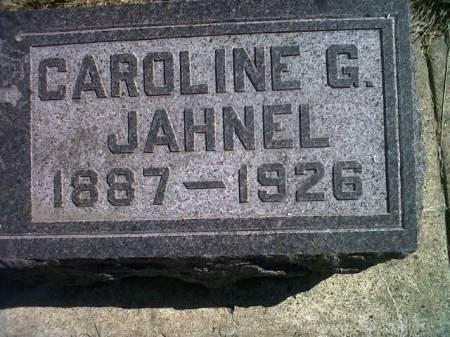 JAHNEL, CAROLINE G. - Mitchell County, Iowa | CAROLINE G. JAHNEL