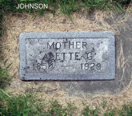JOHNSON, ALETTE G. - Mitchell County, Iowa | ALETTE G. JOHNSON