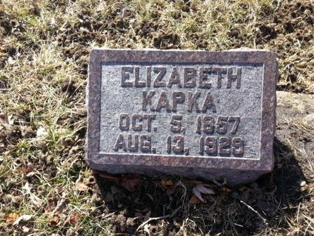 KAPKA, ELIZABETH - Mitchell County, Iowa   ELIZABETH KAPKA