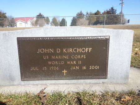 KIRCHOFF, JOHN D. - Mitchell County, Iowa   JOHN D. KIRCHOFF