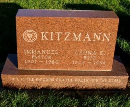 KITZMANN, IMMANUEL - Mitchell County, Iowa   IMMANUEL KITZMANN