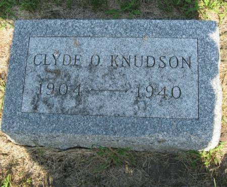 KNUDSON, CLYDE O. - Mitchell County, Iowa   CLYDE O. KNUDSON
