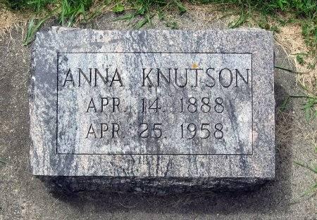 KNUTSON, ANNA - Mitchell County, Iowa   ANNA KNUTSON