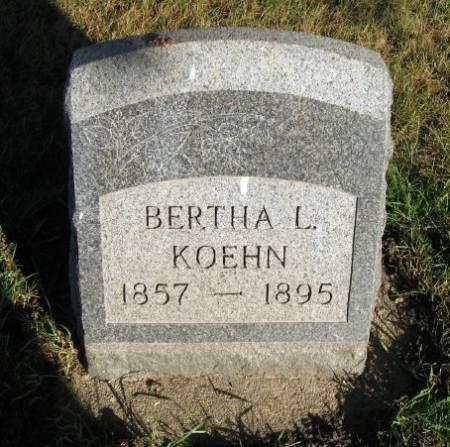 KOEHN, BERTHA L. - Mitchell County, Iowa   BERTHA L. KOEHN