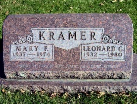 KRAMER, MARY P. - Mitchell County, Iowa | MARY P. KRAMER