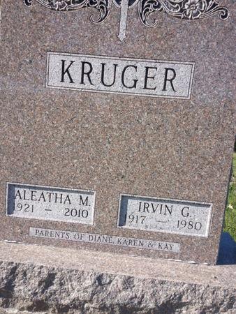 KRUGER, ALEATHA M. - Mitchell County, Iowa   ALEATHA M. KRUGER