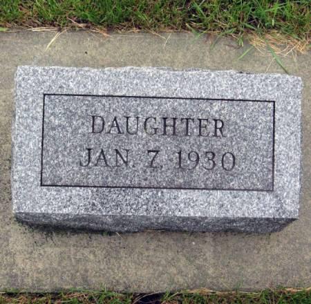 LACK, DAUGHTER - Mitchell County, Iowa   DAUGHTER LACK