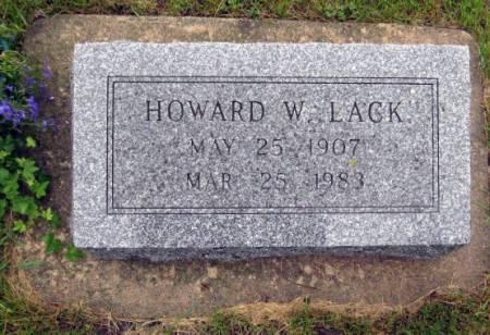 LACK, HOWARD W. - Mitchell County, Iowa   HOWARD W. LACK