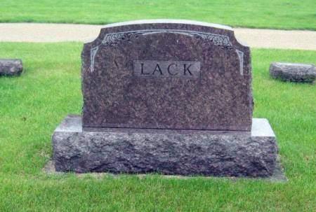 LACK, JOHN (FAMILY STONE) - Mitchell County, Iowa | JOHN (FAMILY STONE) LACK