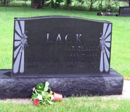 LACK, F. CRAIG - Mitchell County, Iowa | F. CRAIG LACK