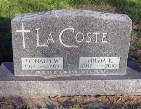 LACOSTE, DONALD W. - Mitchell County, Iowa | DONALD W. LACOSTE