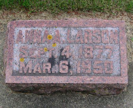 LARSON, ANNA AUGUSTA - Mitchell County, Iowa | ANNA AUGUSTA LARSON