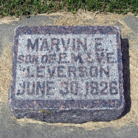 LEVERSON, MARVIN E. - Mitchell County, Iowa | MARVIN E. LEVERSON