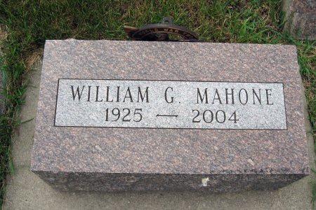 MAHONE, WILLIAM G. (HEADSTONE) - Mitchell County, Iowa   WILLIAM G. (HEADSTONE) MAHONE