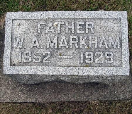 MARKHAM, WILLIAM A. - Mitchell County, Iowa   WILLIAM A. MARKHAM