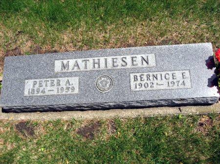 MATHIESEN, BERNICE E. - Mitchell County, Iowa | BERNICE E. MATHIESEN