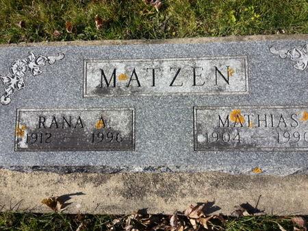 MATZEN, RANA A. - Mitchell County, Iowa | RANA A. MATZEN