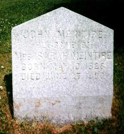 MCINTIRE, JOHN - Mitchell County, Iowa   JOHN MCINTIRE