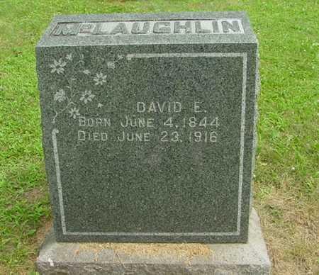 MCLAUGHLIN, DAVID E. - Mitchell County, Iowa   DAVID E. MCLAUGHLIN