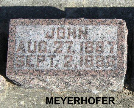 MEYERHOFER, JOHN (1887) - Mitchell County, Iowa   JOHN (1887) MEYERHOFER