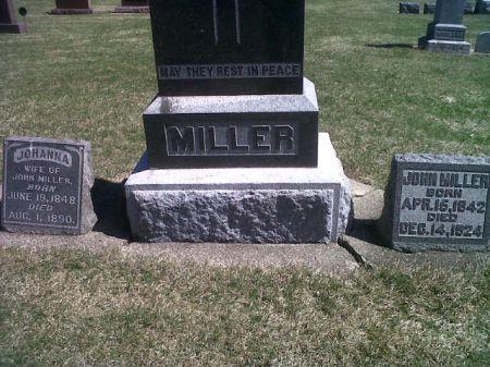 MILLER, JOHANNA (LOT) - Mitchell County, Iowa   JOHANNA (LOT) MILLER
