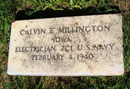 MILLINGTON, CALVIN E. - Mitchell County, Iowa   CALVIN E. MILLINGTON