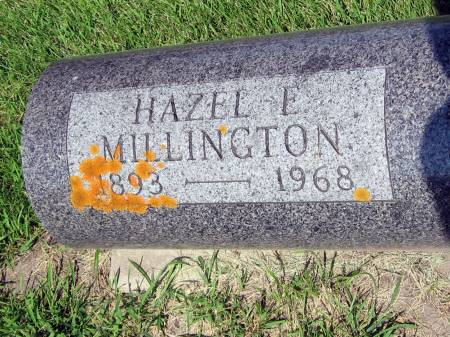 MILLINGTON, HAZEL E. - Mitchell County, Iowa | HAZEL E. MILLINGTON