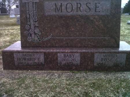 MORSE, BABY - Mitchell County, Iowa   BABY MORSE