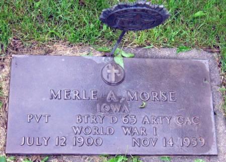 MORSE, MERLE A. - Mitchell County, Iowa   MERLE A. MORSE