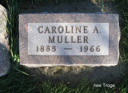 MULLER, CAROLINE A. - Mitchell County, Iowa   CAROLINE A. MULLER