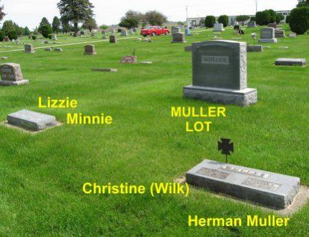 MULLER, HERMAN (LOT) - Mitchell County, Iowa   HERMAN (LOT) MULLER