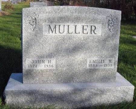 MULLER, EMILIE WILHELMINA - Mitchell County, Iowa | EMILIE WILHELMINA MULLER