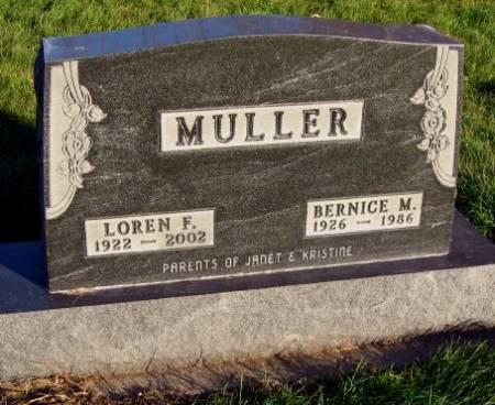 MULLER, BERNICE MARIAN - Mitchell County, Iowa   BERNICE MARIAN MULLER