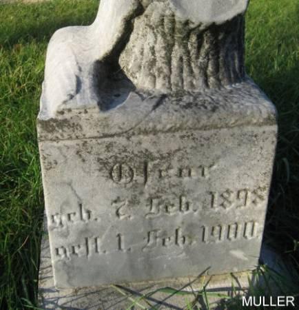 MULLER, OSCAR - Mitchell County, Iowa | OSCAR MULLER