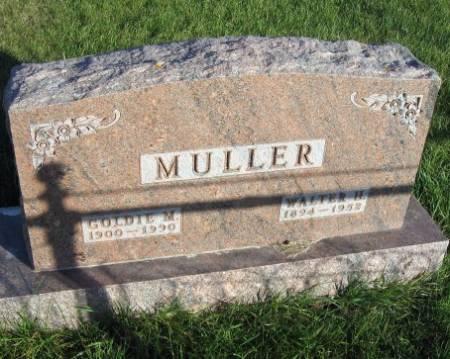 MULLER, WALTER H. - Mitchell County, Iowa   WALTER H. MULLER