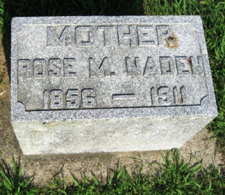 NADEN, ROSE M. - Mitchell County, Iowa   ROSE M. NADEN