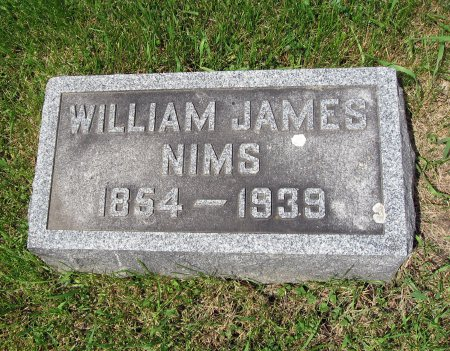 NIMS, WILLIAM JAMES - Mitchell County, Iowa   WILLIAM JAMES NIMS