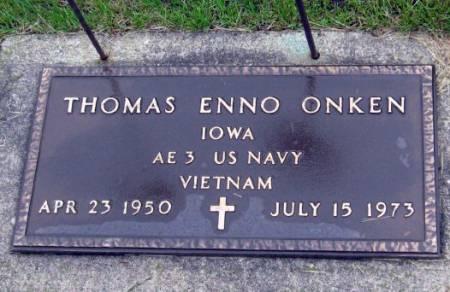 ONKEN, THOMAS ENNO - Mitchell County, Iowa   THOMAS ENNO ONKEN