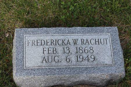 RACHUT, FREDERICKA W. - Mitchell County, Iowa | FREDERICKA W. RACHUT