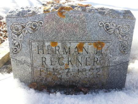 RECKNER, HERMAN H. - Mitchell County, Iowa   HERMAN H. RECKNER