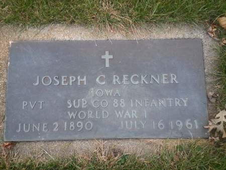 RECKNER, JOSEPH C.  (MILITARY) - Mitchell County, Iowa   JOSEPH C.  (MILITARY) RECKNER