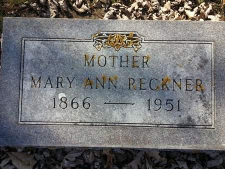 RECKNER, MARY ANN - Mitchell County, Iowa   MARY ANN RECKNER