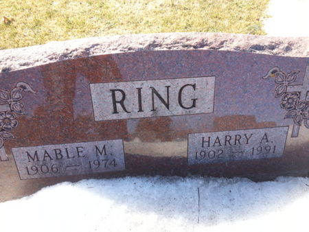 RING, MABLE M. - Mitchell County, Iowa   MABLE M. RING