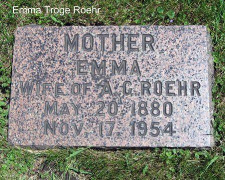 ROEHR, EMMA M. - Mitchell County, Iowa   EMMA M. ROEHR