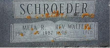 SCHROEDER, WALTER C. (REV.) - Mitchell County, Iowa | WALTER C. (REV.) SCHROEDER