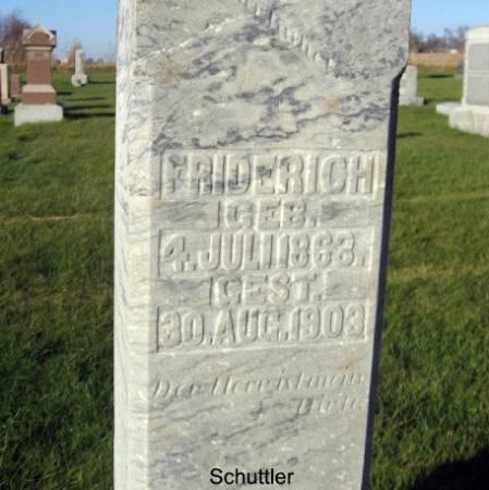 SCHUTTLER, FRIDERICH - Mitchell County, Iowa   FRIDERICH SCHUTTLER