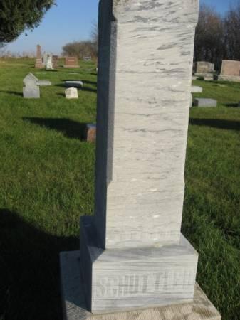 SCHUTTLER, WILLIAM (FAMILYSTONE) - Mitchell County, Iowa | WILLIAM (FAMILYSTONE) SCHUTTLER