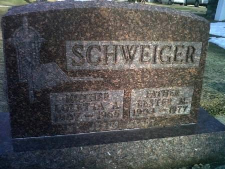 SCHWEIGER, LOLETTA A - Mitchell County, Iowa   LOLETTA A SCHWEIGER